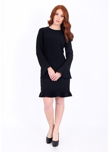 Kolları Volanlı Kısa Elbise-Soie Design